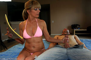 mature wife handjob