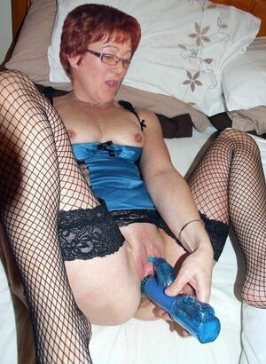 granny riding dildo