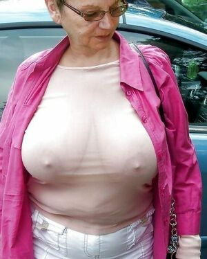 granny huge boobs
